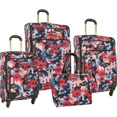 Anne Klein Lafayette 3 Piece Hardside Spinner Luggage Set | Wheels ...