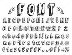 tipografia vintage abecedario - Buscar con Google