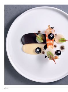 Beautiful shrimp presentation from Amadors Gerichte, FOUR Magazine | Trendland |