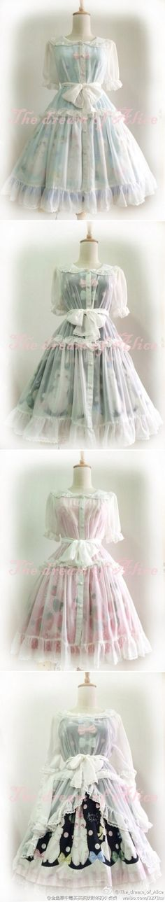 【The dream of Alice】罩裙现货-淘宝网 sheer overlay dress
