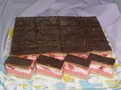 Jahodovo-čokoládové rezy
