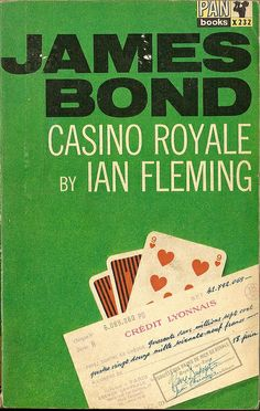 Love the covers for the James Bond pocket books that came out in the 60's.  So simple and to the point.  Good spy thrillers too...