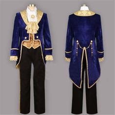 Halloween Movie Beauty and the Beast Prince Tuxedo Cosplay Costume Custom Made