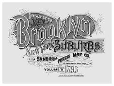 NEW YORK Brooklyn Suburbs. Atlas 62. Vol. B, 1895  At least two editions with slightly different designs and typography appeared in 1893 and 1895.