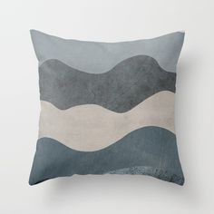 Blue Waves Throw Pillow by draw4you | Society6