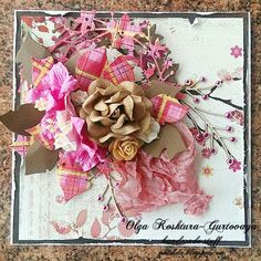 I used Memory Box paper and dies, i am roses flowers and wycinanka cheapboard and Magnolia dies