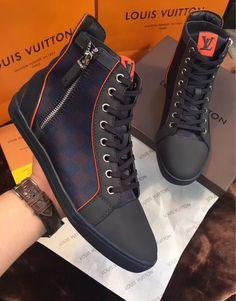 Mens Louis V u i t t o n 135 Luis Vuitton Shoes, Louis Vuitton Mens Sneakers, Lv Sneakers, Sneakers Fashion, Lv Shoes, Shoe Boots, King Shoes, Wholesale Nike Shoes, Mens Designer Shoes