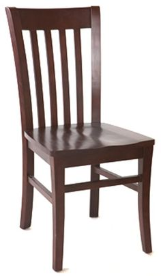 The ECO Schoolhouse Side Chair is made out of solid European beech wood, it is assembled with mortise and tenon construction and metal reinforcements for added durability. A sturdy chair, traditional as well as great looking - it is designed especially for commercial use. Available in walnut and dark mahogany with upholstered or wood seat of your choice.