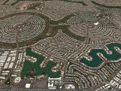 Sun City was launched January with five home models, a shopping center, recreation center and golf course. Sun City Arizona, Sun City Az, Arizona Usa, Pictures Of Phoenix, City Layout, Urban Planning, Landscape Art, City Photo, Concept Art