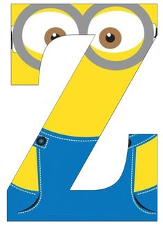 Typography - Minion Alphabet - Letter Z z harfi Minion Theme, Minion Birthday, Minion Party, Minion Classroom, Scrapbook Letters, Minions Despicable Me, Craft Quotes, Alphabet And Numbers, Preschool Activities