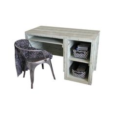Shima Rustic Desk With Cubby Storage - Beach Style - Desks And Hutches... ❤ liked on Polyvore featuring home, furniture, desks, cubby storage furniture, rustic home furniture, storage furniture, rustic desk and home storage furniture