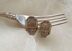 Rome Souvenir Spoon Cufflinks by georginabaker on Etsy, $30.00