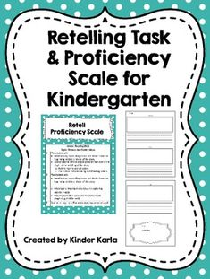 FREEBIE Retelling task and proficiency scale for Kinder Reading Assessment, Reading Intervention, Pre Reading Activities, Literacy Activities, Guided Reading, Speech Language Pathology, Speech And Language, Language Development, Language Arts