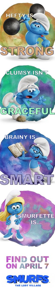 Search for screenings / showtimes and book tickets for Smurfs: The Lost Village. The Official Showtimes Destination brought to you by Sony Pictures Disney Movies, Disney Pixar, Disney Toys, Kids Crafts, Sony Pictures Entertainment, Lost Village, Funny Memes, Hilarious, Smurfette