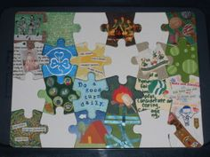 Altered Puzzle Pieces, Round 4 Gallery - ORGANIZED CRAFT SWAPS