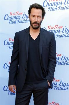 "Keanu Reeves attends the screening of ""Side by Side"" during the Champs-Elysees Film Festival in Paris on June 14, 2014."