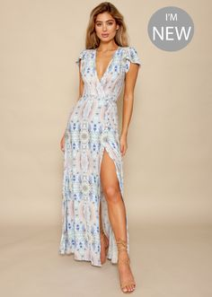 Sure Thing Wrap Dress - Celeste Blue | Gingham & Heels