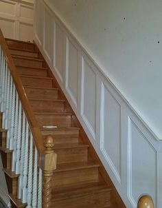 chair rail moulding on stairs - Google Search