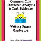 Free....Common Core requires students to write about their reading so as to increase critical thinking skills. Students often have a hard time knowing ho...