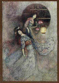 """Warwick Goble. """"La Linterna de Peonia"""" (1910)"""