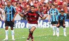 Ronaldo Angelim comemora o gol marcado contra o Grêmio na última rodada do Brasileiro de 2009, quando o Flamengo foi campeão