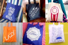 handprinted tote bags designed and printed by hello DODO