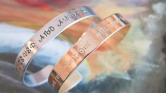 Custom Hand Stamped Bracelet  Hand Stamped by BlueCornerCreasigns