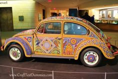 VW Bug painted floral