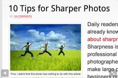 10 tips for sharper pictures
