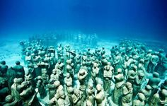 underwater sculptures of slaves thrown overboard from slave ships -- off the coast of Grenada