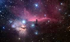The Horsehead Nebula (also known as Barnard 33 in emission nebula IC 434) is a dark nebula in the constellation Orion. Description from pixgood.com. I searched for this on bing.com/images