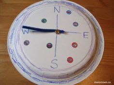 "compass craft for ""God is Everywhere"" unit; could use a circle of paper glued to a sheet of construction paper, too."