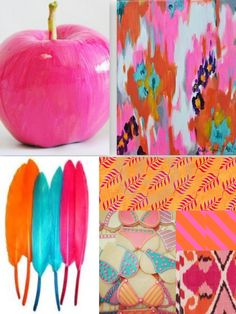 color board inspiration - hot pink, orange & turquoise