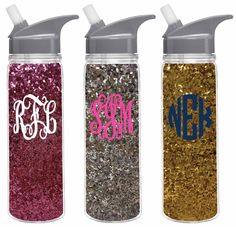 Hit the #GYM in style! Monogrammed 18oz Double Wall Water Bottle from marleylilly.com! #monogram #gymlife #girlswholift #gymrat #workout #fitness