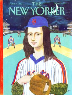 0215 [J. B. Handelsman] Da Vinci's Mona Lisa in a New York Mets uniform