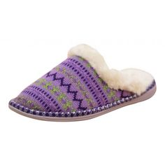 4c71b1bcfe84 Dunlop Ladies Faux Fur Lined Cosy Knitted Slip On Slipper Mules - Dunlop  from Jenny-Wren Footwear UK
