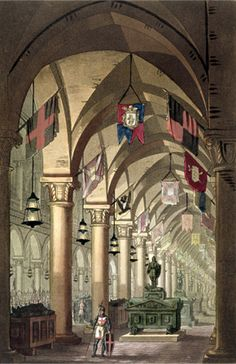 Tombs of the Knights Templar. Painting by Alessandro Sanquirico.