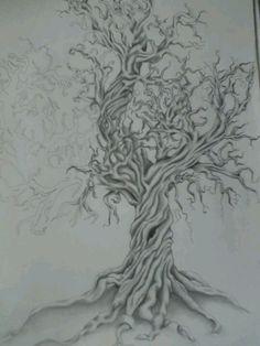 Oak Tree Tattoo Meaning Oak Tree Drawings, Tree Sketches, Tattoo Sketches, Drawing Trees, Tree Tattoo Back, Pine Tree Tattoo, Tree Tattoo Meaning, Tattoos With Meaning, Arrow Tattoos