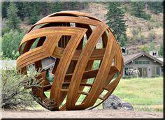Bernard Hosey sculpture; Deborah Butterfield in the background