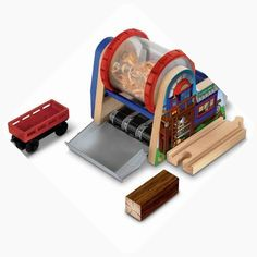 Thomas the Tank Engine Wooden Railway Wood Chipper Fisher-Price Thomas the Tank Engine Playsets Thomas And Friends Toys, Thomas Toys, Wooden Toy Train, Wood Chipper, Minecraft Decorations, Thomas The Tank, Legos, Engineering, Fisher Price