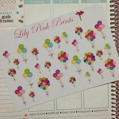 27 Balloon Bunch Stickers - Perfect for Erin Condren Life Planners / Journals / Stickers.