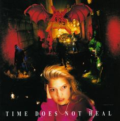 Time Does Not Heal, a really great album by the band Dark Angel. I need to make a Darkness Descends hat by them! Thrash metal at its finest.