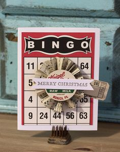 Bingo Craft Cards for Christmas!