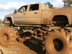 Jacked Up Trucks Mudding | This one is odd because the jacked up look and small wheels. But it ...