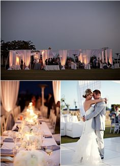 X Outdoor wedding reception on a beautiful summer night <3