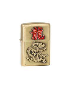Zippo 2.004.802 Year of the Dragon 2024, , Brass gebürstet, Feuerzeug, 5.5 x 3,50 x 1,5 cm