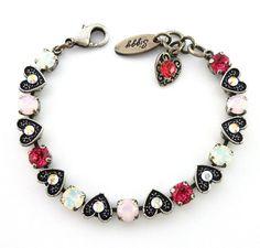 Swarovski crystal VALENTINE'S DAY bracelet by SiggyJewelry on Etsy