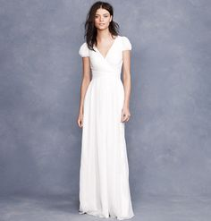 30 of the Best Beach Wedding Dresses For Any Bride-to-Be: For the low-maintenance femme.    Emamó Poeme Crocheted Cotton-Blend Muslin Maxi Dress ($845)  : Looking to keep it more minimalist? This gown delivers a beautiful fit, but the simple, streamlined silhouette is ideal for a more understated bride.    J.Crew Mirabelle Gown ($625)
