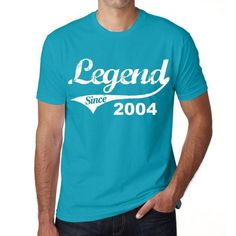 #legend #birthday #gift #tshirt #men Wish yourself or someone you love a happy birthday with a perfect t-shirt! --> https://www.teeshirtee.com/collections/coollection-legend-since-blue/products/2004-birthday-gifts-for-him-birthday-t-shirts-mens-short-sleeve-rounded-neck-t-shirt-3
