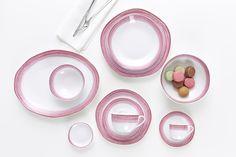 Flirt by Ritzenhoff & Breker Harness series Sunrise pink - Set of 6 coffee mugs Measuring Spoons, Fine Dining, Flirting, Dinnerware, Coffee Mugs, House Design, Pink, Tea Time, Sunrise